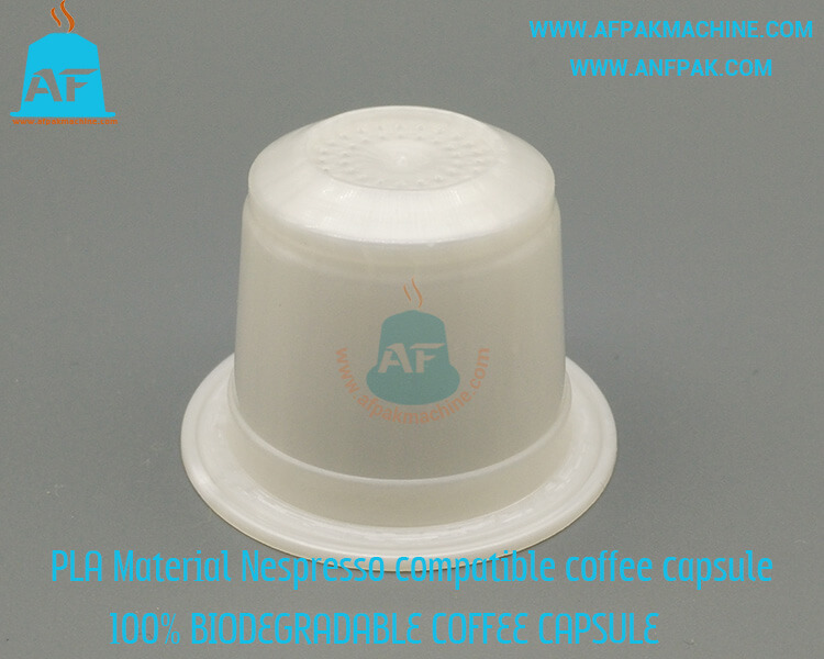 biodegradable coffee capsule side