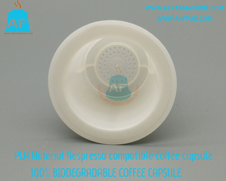 biodegradable coffee capsule top