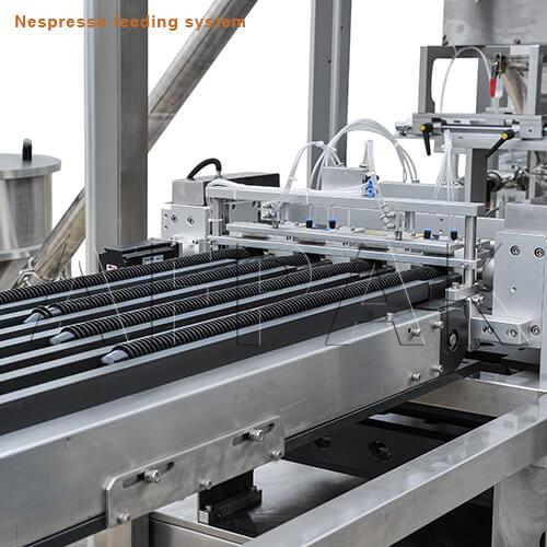 feeder of nespresso filling sealing amchine