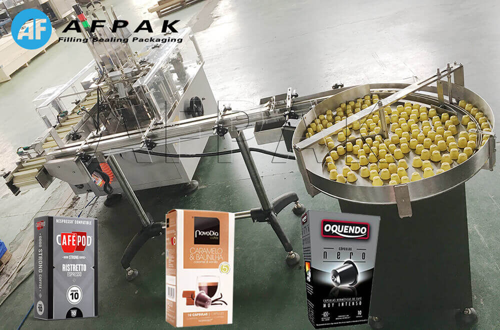 Nespresso coffee capsule box packaging machine