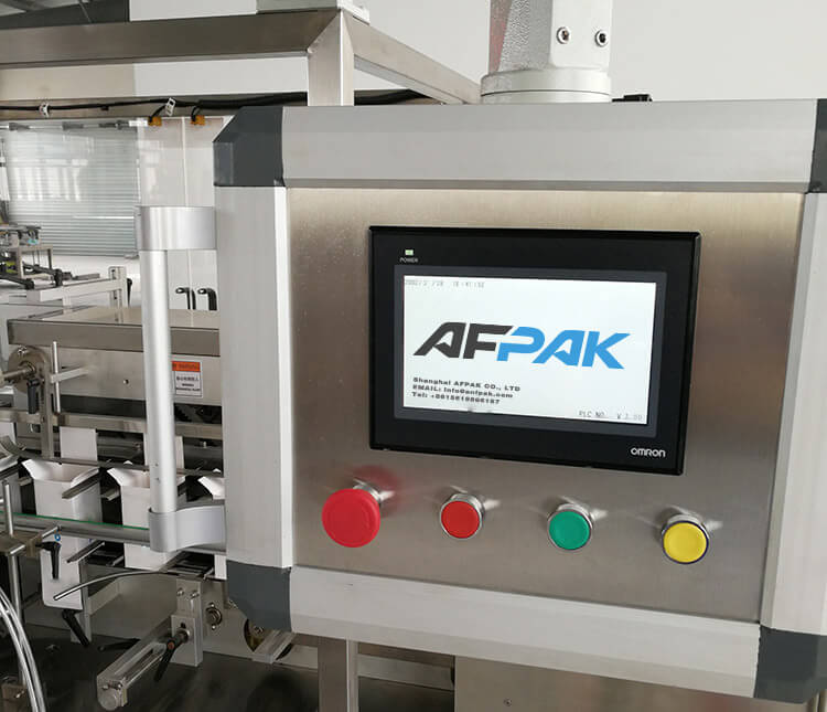 Control Panel of box packaging machine