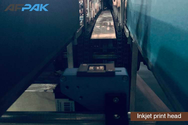 Inkjet print head of K cup packaging machine