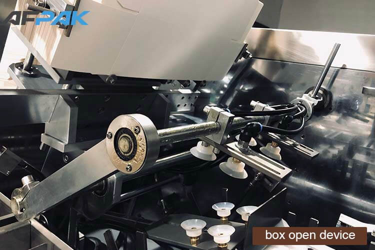 box open device of K cup packaging machine