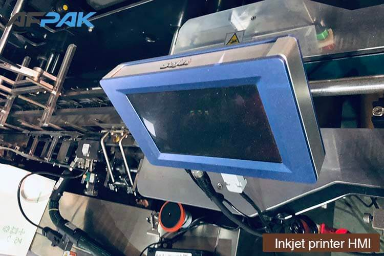 print HMI of K cup packaging machine