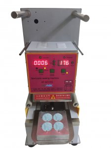 K cup sealing machine